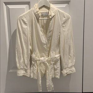 COPY - EUC Zara Cream Linen Jacket